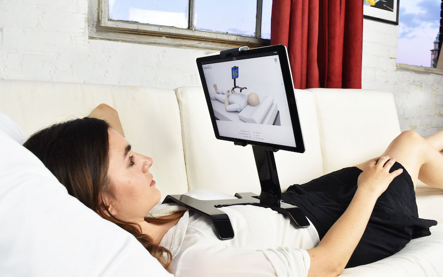 Tstand, the ultimate iPad holder for bed