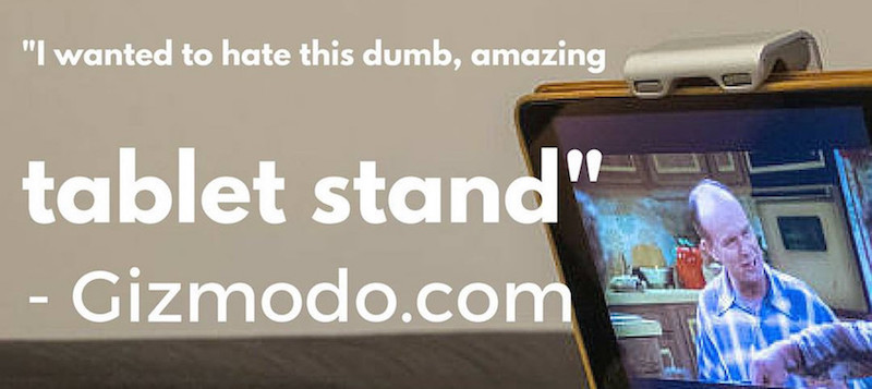 Gizmodo quote about tstand - amazing tablet stand